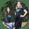 Melissa Gava e Camilla Lopes, cofundadoras da Mediação Online (MOL), clientes da Oficina de Impacto desde agosto de 2017